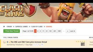 Why have Clash of Clans inapp purchase prices suddenly gone up? And what we can do about it.