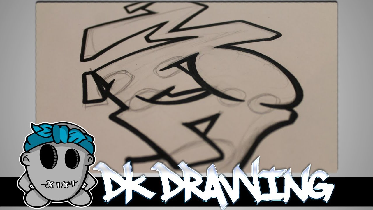 Graffiti Tutorial For Beginners How To Connect Simple Graffiti Letters  Youtube