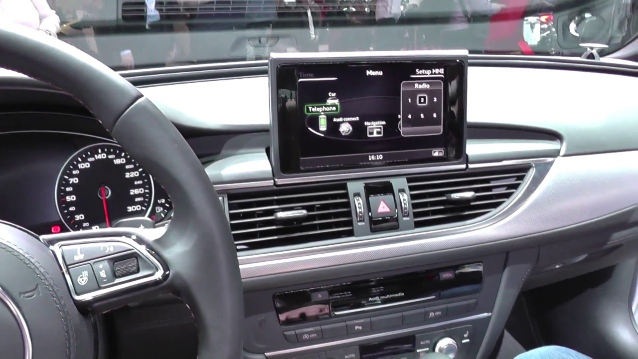 audi a6 c7 dash cluster interior look around youtube. Black Bedroom Furniture Sets. Home Design Ideas