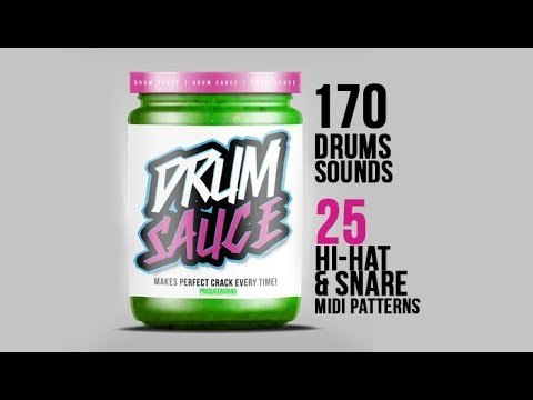 DRUM SAUCE DRUM KIT ? 120 Trap Drum Sounds + FREE MIDI Drums