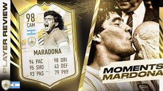 WHAT A LEGACY! ❤️ 98 PRIME ICON MOMENTS DIEGO MARADONA REVIEW! FIFA 21 Ultimate Team