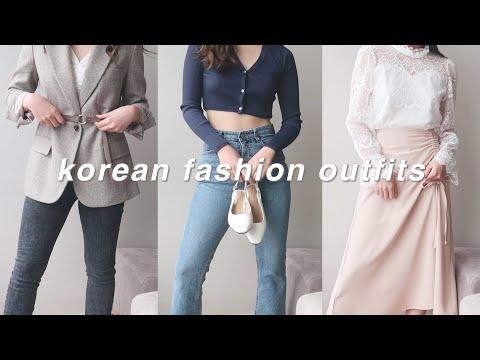 [한글/ENG] korean fashion outfits 🌸   style lookbook 2021 - YouTube