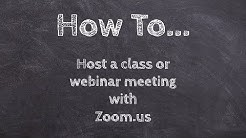How to host a class or webinar meeting with Zoom! www.zoom.us