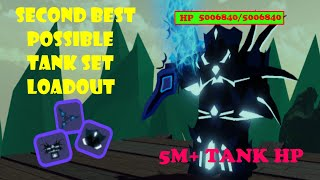 NEW SECOND BEST TANK SET LOADOUT🛡️ (5 MIL) ‼ Second best gear - Roblox Dungeon Quest