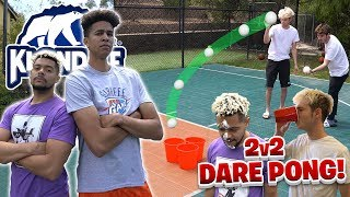 INSANE 2Hype 2v2 Fear Pong *Moochie's Mom Freaks Out!*