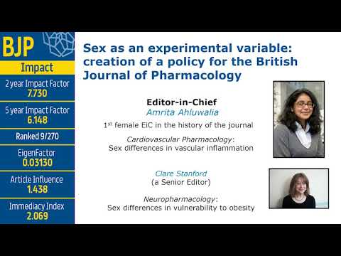 Sex as an experimental variable: creation of a policy for the British Journal of Pharmacology