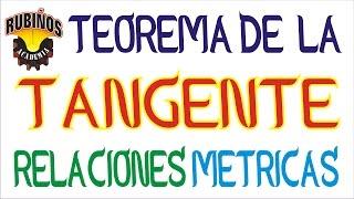 Teorema de la Tangente - Ejercicios Resueltos de Relaciones Métricas en la Circunferencia