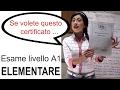 Esame Livello A1 (Elementare) - One World Italiano Video