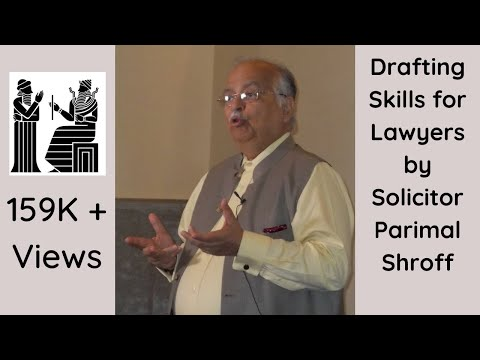 Drafting Skills for Lawyer with Solicitor Parimal Shroff