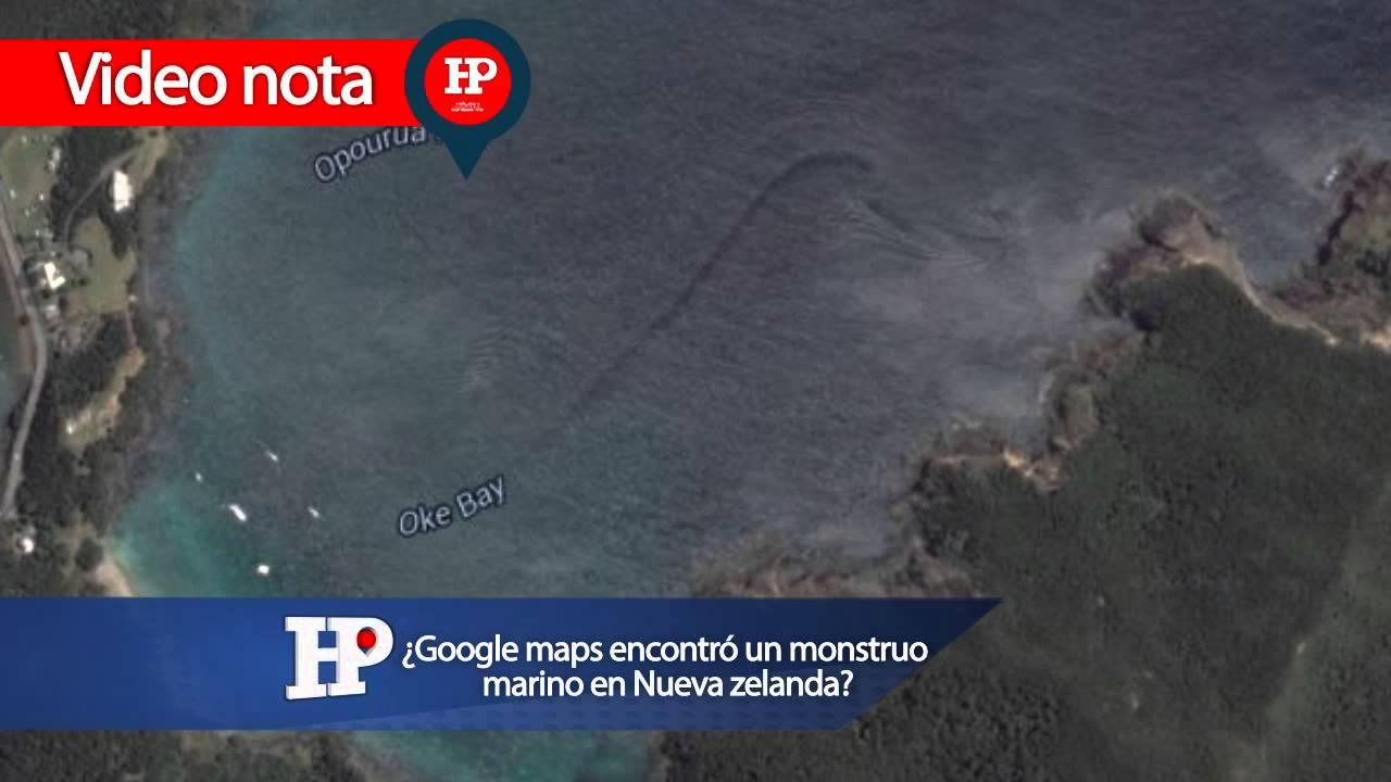 ¡Google Maps Encontró Un Monstruo Marino En Nueva Zelanda
