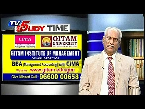 GITAM Institute of Management | BBA with CIMA | Study Time | TV5 News