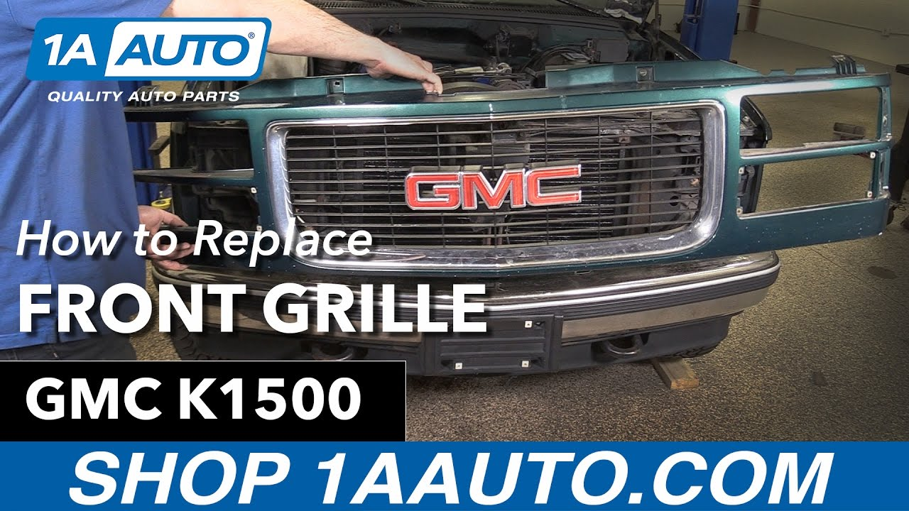 how to replace front grille 94 98 gmc k1500 youtube how to replace front grille 94 98 gmc k1500