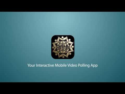Public Group Interactive Video Polling Platform