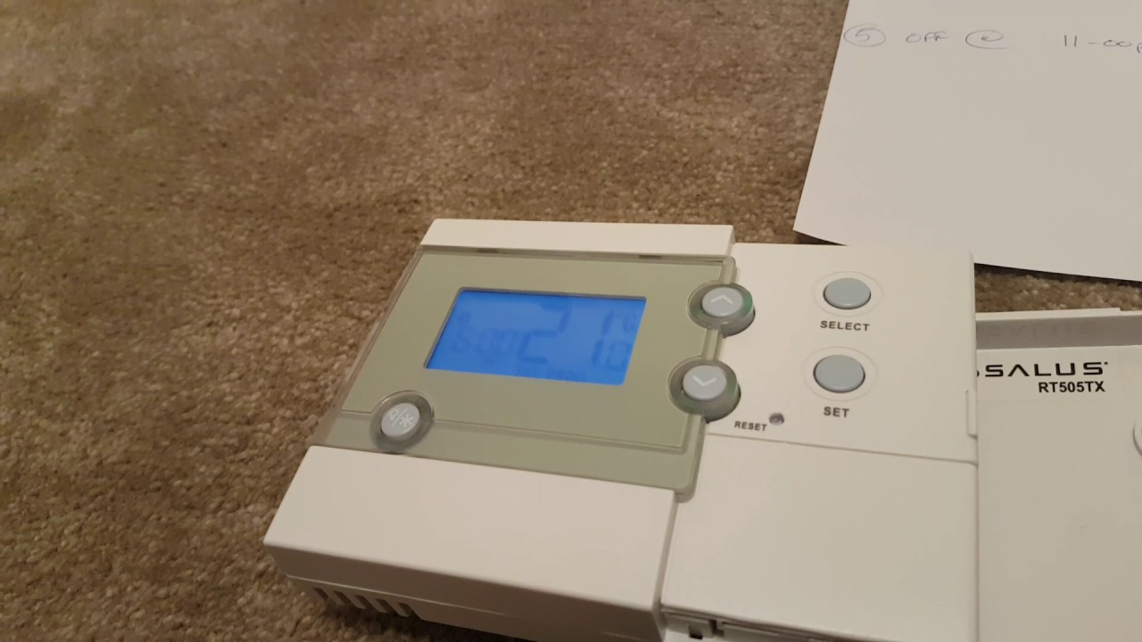 How To Program Salus Rf Rt500 Or Rt505tx Programmable Room
