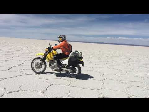 Motorcycle Tours on the Salt flat.