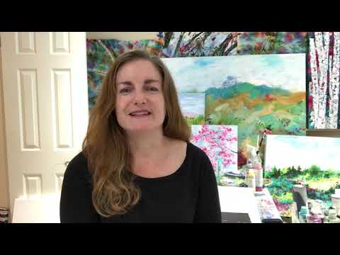 Kareen Hague Overview Birch Trees Landscapes and Florals