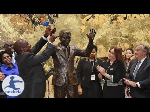 Africa's Hero Nelson Mandela Honored with Statue at the UN Headquarters