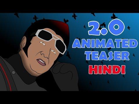 2.0 - Animated Teaser [Hindi]   Rajinikanth   Akshay Kumar   A R Rahman   Shankar   Amy Jackson