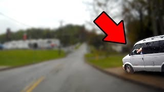 Runaway Van Almost Smashes Into Me! Dash Cam Fails