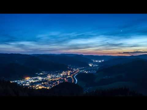 Timelapse day to night / Hausach in the Black Forest / Germany