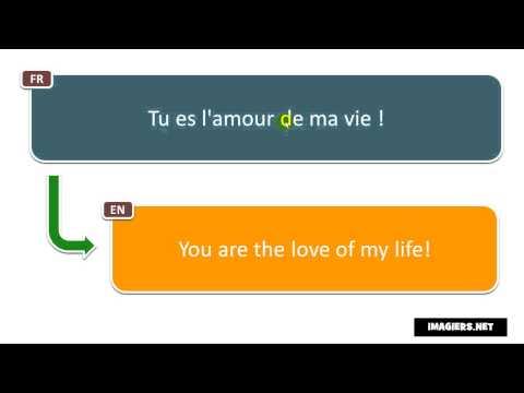 French Phrase Tu Es L Amour De Ma Vie Youtube