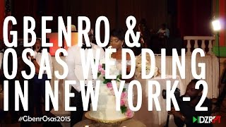 The Wedding Guest Gbenro and Osas White Wedding in New York GbenrOsas2015 2