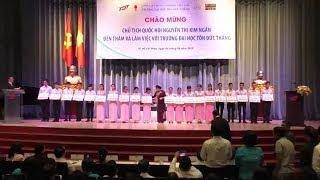 Chủ tịch Quốc hội Nguyễn Thị Kim Ngân làm việc với Trường Đại học Tôn Đức Thắng