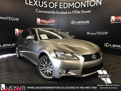 Used Silver 2015 Lexus GS 350 Luxury Package Review Sherwood Park Alberta