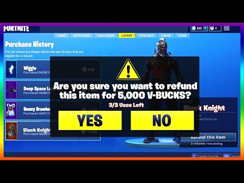 How To Refund Skins In Fortnite Battle Royale! (New Season 4 Refund Option)