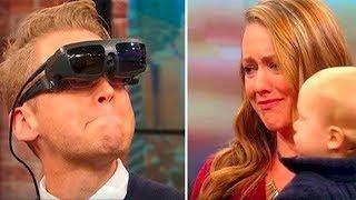 Niewidomy mężczyzna po raz pierwszy zobaczył swoją żonę i syna