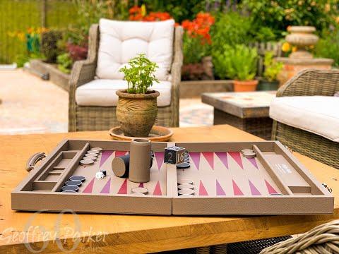 How to make a luxury backgammon board