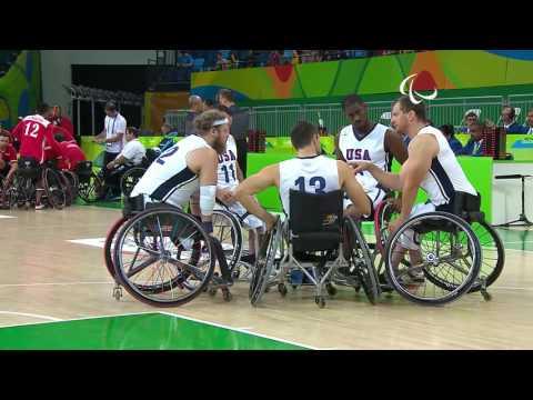 Wheelchair Basketball | USA vs China | Women's preliminaries | Rio 2016 Paralympic Games