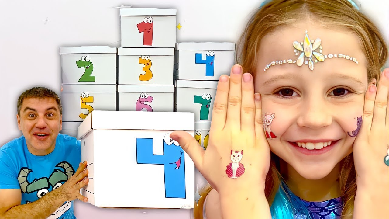 Nastya and dad are learning the Alphabet and Numbers   Educational Videos for Toddlers