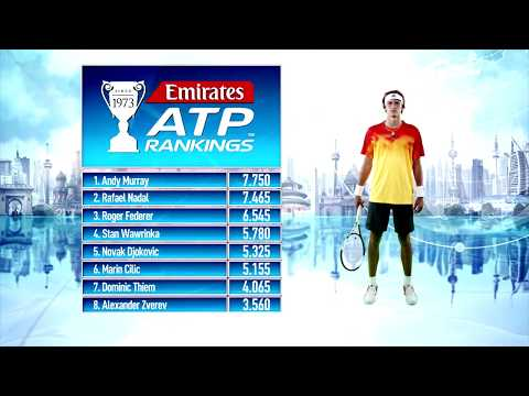 Emirates ATP Rankings Update 7 August 2017