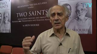 Arun Shourie speaks on His Holiness the Dalai Lama launching his book 'Two Saints'