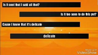 Taylor Swift - Delicate Remix Version (Sawyr & Ryan Tedder ) - Lyrics