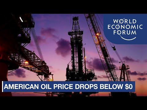 Why did American oil price suddenly drop below $0?