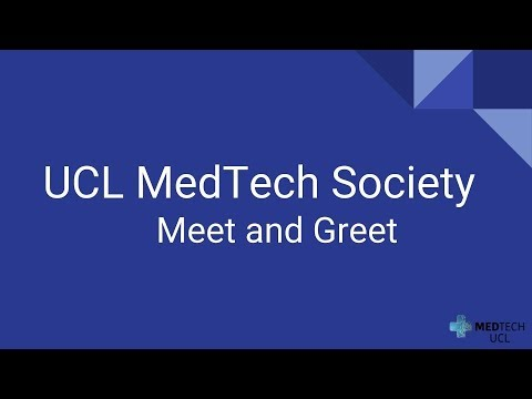 Speech by Shafi Ahmed at UCL MedTech Society Meet and Greet