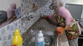 روتيني في تنظيف المطبخ لاستقبال عيد الاضحى ❤ / نظمت الثلاجة ب 5 دراهم فقط💪/ جولة في مطبخي الصغير