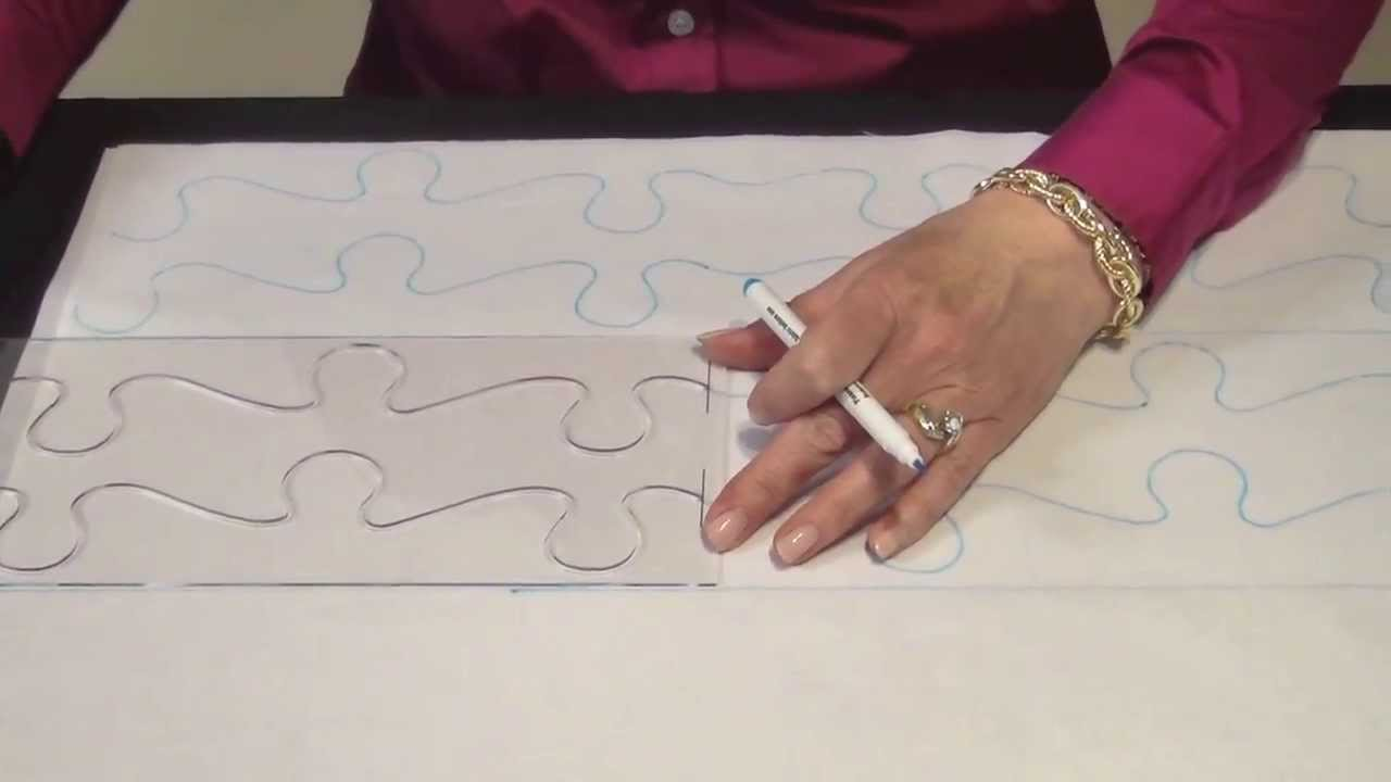 June Tailor Continuous Line Quilting Guides - YouTube : quilt stencils for hand quilting - Adamdwight.com