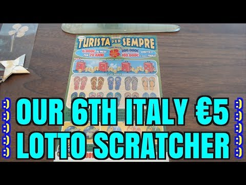6TH FIVE EURO SCRATCHER FROM ITALY! Turista Per Sempre Scratch Ticket