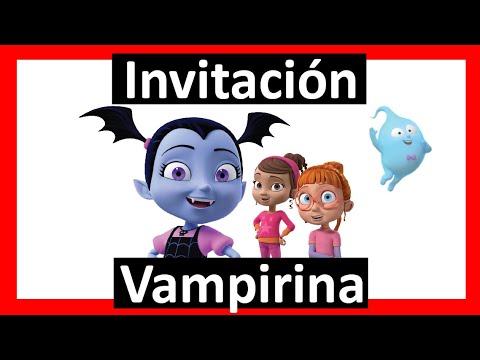 Video Invitación Vampirina Whatsapp Digital