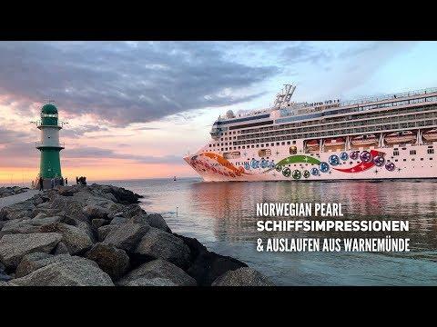 Impressionen von der Norwegian Pearl & Auslaufen aus Warnemünde
