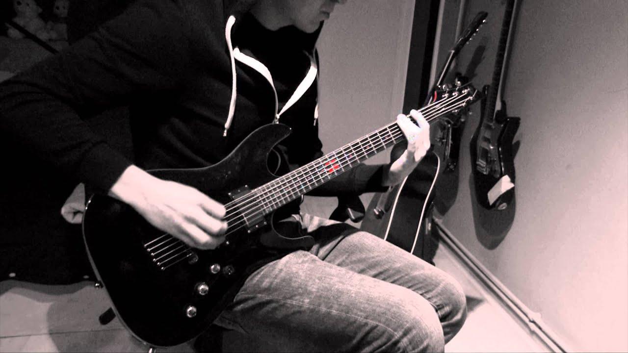 8 strings set on 6 string guitar drop f youtube