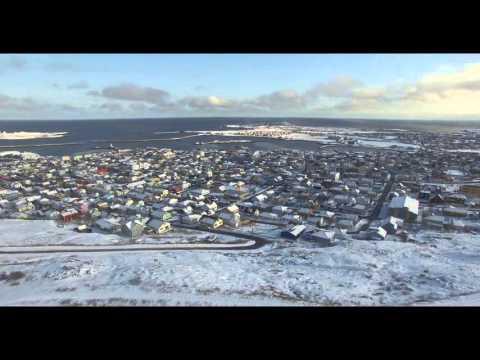 Saint-Pierre et Miquelon vue du ciel 36 : Sous la neige