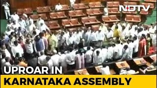 """Karnataka Government Lost Majority"": Opposition BJP Shouts Down Governor"