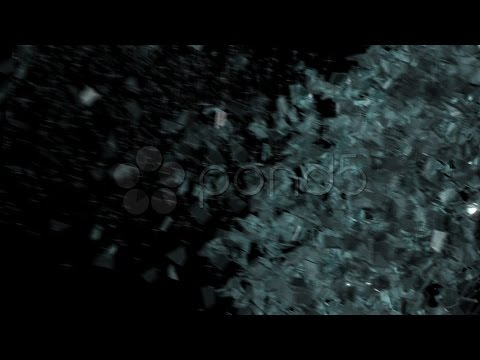 Breaking Glass - Cgi - Alpha Channel. Stock Footage