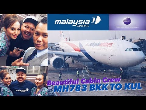 Malaysia Airlines Airbus A330 MH783 BKK to KUL | Beautiful Crew & Sunset Flight VLOG