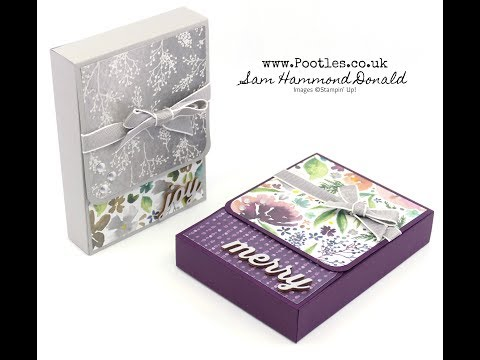 Frosted Florals Note Card Box using Stampin' Up! Supplies - วันที่ 31 Oct 2018