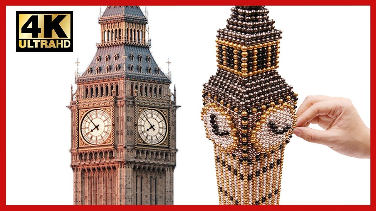Diy How To Make Big Ben With 100000 Magnetic Balls Asmr Pixel Art By Magnet World 4k